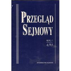 PRZEGLĄD SEJMOWY - 1993 - NR 4