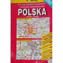 ATLAS SAMOCHODOWY POLSKA 2000