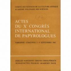 ACTES DU X CONGRES...