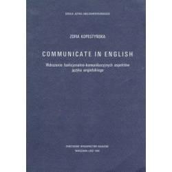 COMMUNICATE IN ENGLISH -...