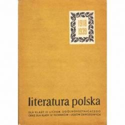 LITERATURA POLSKA 1918-1939...