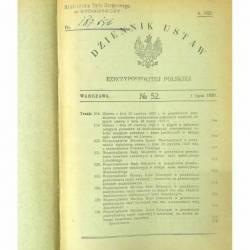 DZIENNIK USTAW RP 1920...